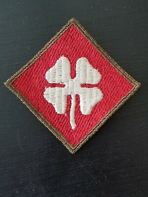 WWII US 4th Army German Made Cut Edge Patch