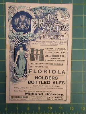 Prince of Wales theatre programme Nov 9th 1903 The only way Martin Harvey