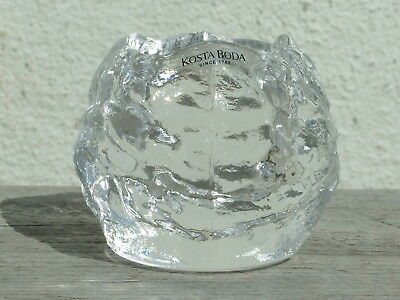 Kosta Boda Vintage Snowball Glass Candle Holder