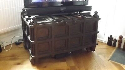 Superb 19th Century Indian Afghanistan Dowry Chest Indian Rosewood