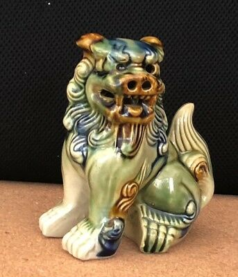 """Chinese Dog of Foo, Collectable Ceramic. 5.5"""" tall."""