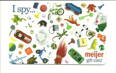 Meijer I Spy Gift Card No $ Value Collectible