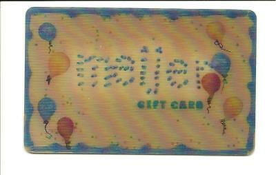 Meijer Lenticular Party Balloons Gift Card No $ Value Collectible