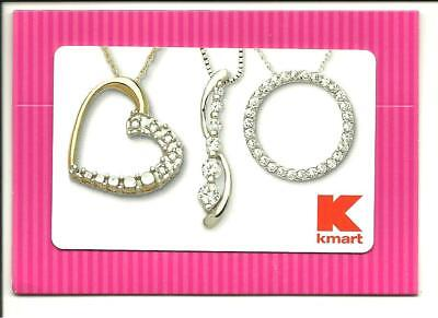 Kmart Heart Jewelry Gift Card With Hanger No $ Value Collectible