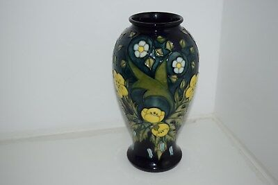 "A very rare Moorcroft 46/10 vase ""Buttercup"" pattern by Sally Tuffin 1992 1st"