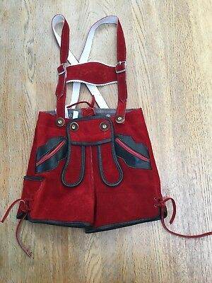 Baby's Authentic German Suede Traditional Lederhosen Outfit