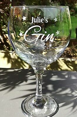 Personalised Engraved Large Gin Glass - New
