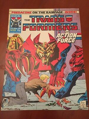 Marvel UK Transformers G1 Issue Number 155 March 1988