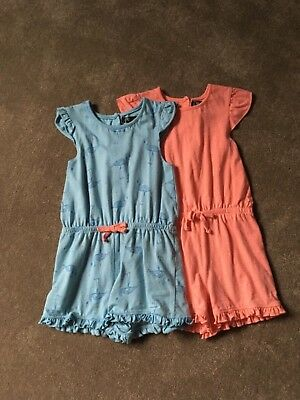 Girls playsuits x 2 age 3-4