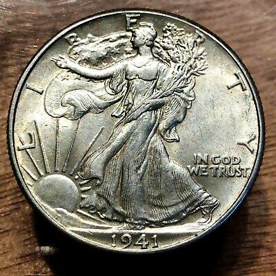 UNC++ 1941 U.S. Walking Liberty Half Dollar