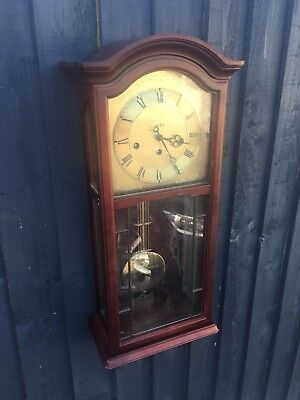 House Clearance Attic Find Classic Look Ams Rare Wall Wind Up Key Clock Derby