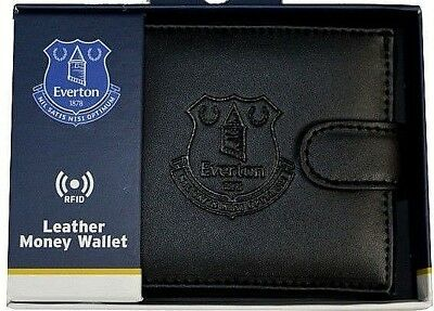 Everton Fc Rfid Leather - Football Sports Money Wallet Purse Efc Boxed Gift
