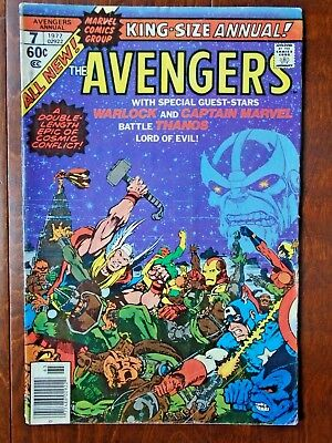 The Avengers King-Size Annual #7,Thanos, Captain Marvel,Death Of Warlock,KEY