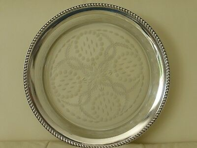 Huge Watson Company Sterling And Cut Glass Platter