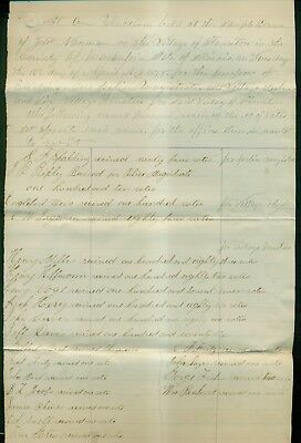 1878 Village of Staunton,IL Election Poll List for Police Magistrate & Trustees