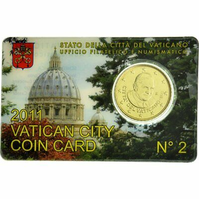 [#529677] VATICAN CITY, 50 Euro Cent, 2011, MS(65-70), Brass