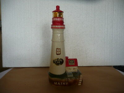 Ezra Brooks Maine Lighthouse Decanter   1971