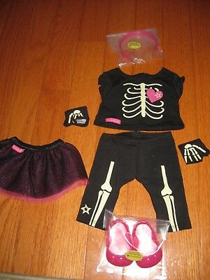 New American Girl Halloween Skeleton Outfit Costume With Netted Skirt So Cute!
