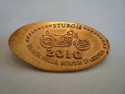 STURGIS Black Hills, SD - 2010 -- elongated copper penny