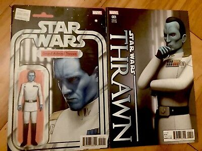 Star Wars Thrawn #1 Action Figure Variant and Animation Marvel Comics 1st Print