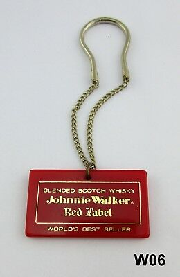 Vintage Johnnie Walker Red Label Bottle Label  Tag Advertising W06