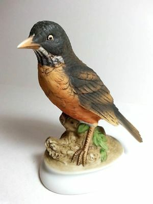 Vintage   Lefton China Hand Painted Kw 395 Robin  Japan Bird