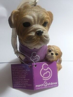 March Of Dimes Resin English Bull Dog Ornament 2017