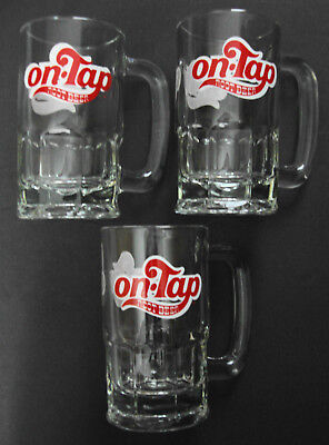 Lot Of 3 On-Tap Root Beer Glass Mugs In Excellent Condition