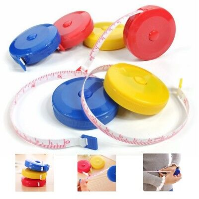 """Mini Retractable Tape Measure 60"""" 1.5M Sewing Tailor Cloth Soft Flat Body Ruler"""