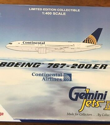 Gemini Jets 1/400, Continental Airlines, Boeing 767-200ER, MIB, new