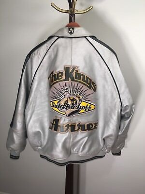 "Avirex leather vintage Varsity jacket 1998 ""The Kings"" Goldkickoff 3XL XXXL"