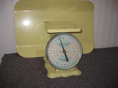 Vintage Antique 1950's Metal Baby Home Nursery Scale Weighs Up To 30lbs*WORKING*