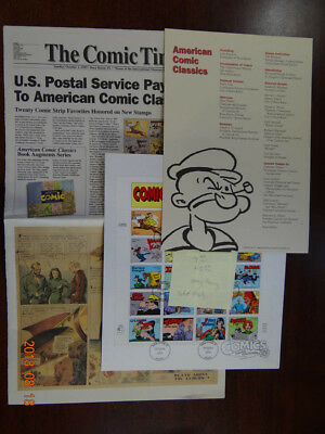 Scott #3000 Comic Strips Classics Folder With First Day Canceled Sheet of Stamps