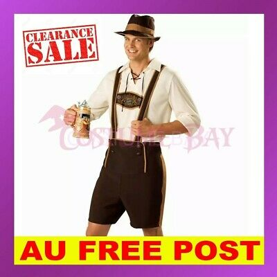Mens Lederhosen Oktoberfest Embroidery Octoberfest Bavarian German Beer Costume