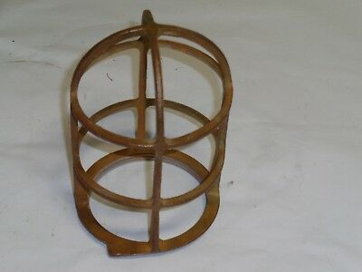 Vintage light cage, R&S Co., solid brass, used