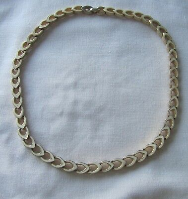Vintage gold tone Monet enamelled short necklace