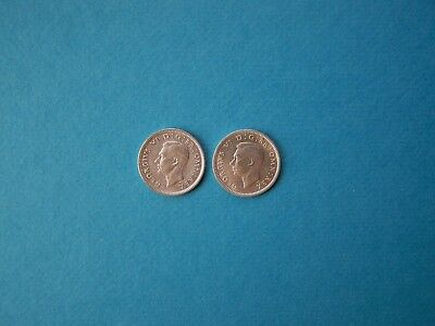 United Kingdom Coins 1943 Year Sixpence Nice Silver Coins Set.