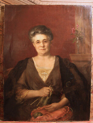 Antique Oil Painting, August Franzen (1863 - 1938), Signed & Dated