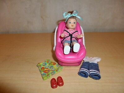Happy Family Barbie Baby Car Seat With Sounds Accessories