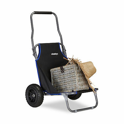 Foldable Beach Cart Lawn Chair Mobile Poolside Lounger Transport Wagon, Outdoors