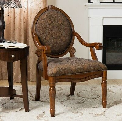 Tapestry Desk Chair Floral Accent Armchair French Provincial Dining Chairs Armed