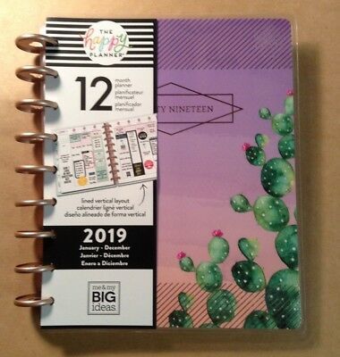 """NEW Happy Planner CLASSIC """"DESERT DREAMS"""" 12-Month LINED VERTICAL Planner"""