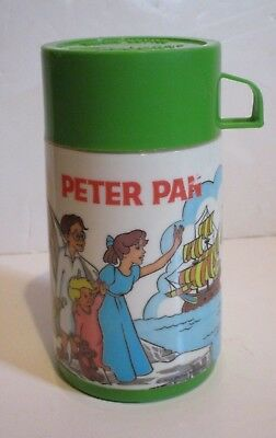 Disney Peter Pan & Captain Hook Thermos Bottle Only From Aladdin Lunchbox