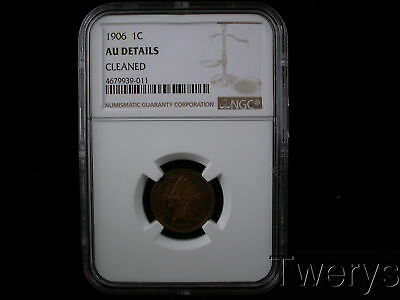 1906 Indian Head Small Cent Ngc Au Details