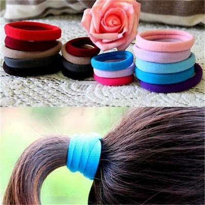 100Pcs Women Elastic Hair Ties Band Ropes Ring Ponytail Holder Accessories D