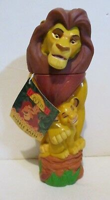 Disney The Lion King Mufasa Simba Figural Bubble Bath Bottle Full With Tag 1994