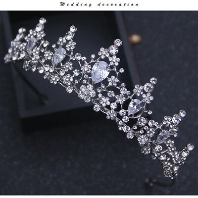 4cm High Twinkling CZ Crystal Wedding Bridal Party Pageant Prom Crown Tiara