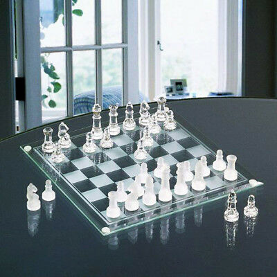 Deluxe Glass Chess Set Game