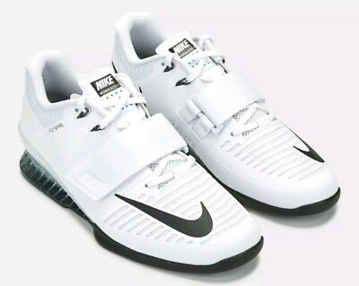 buy online e7b64 53a57 Nike Romaleos 3 Weightlifting Shoes Mens Size 15 White 852933-100