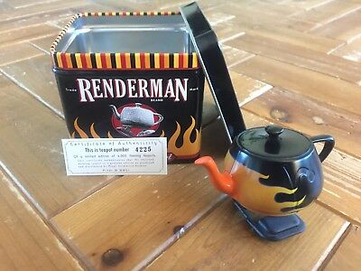 "Pixar Renderman Walking Teapot ""Flaming"" Limited Edition 4225/6000"